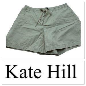 Kate Hill khaki tie front shorts